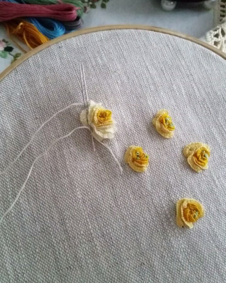 Embroidery On Thick Linen Cloth