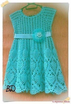 Crochet Dress Girl - Diy Crafts