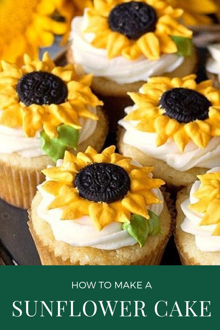 HOW TO MAKE SUNFLOWER CAKE