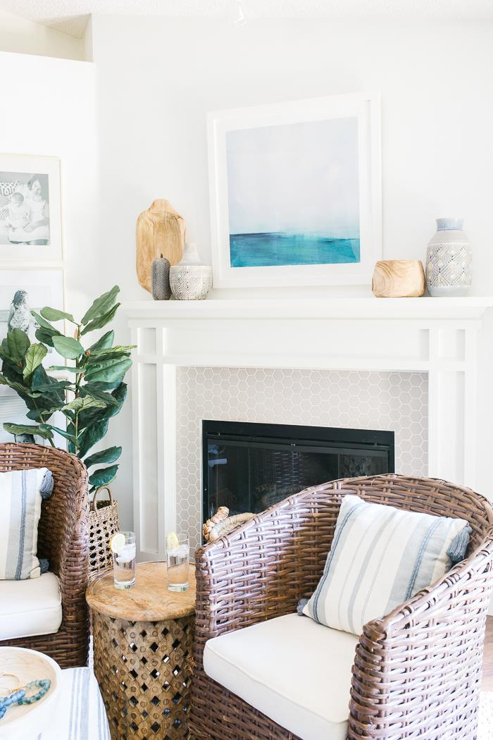 How to Style A Mantel - A guide for decorating your mantel with affordable finds