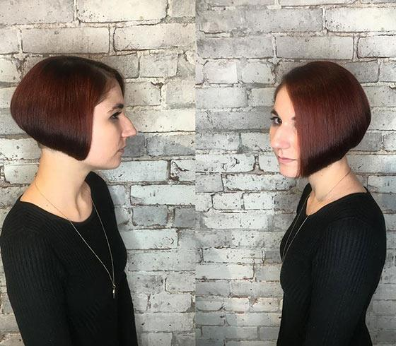 Jaw-Length Bob With Rounded Back