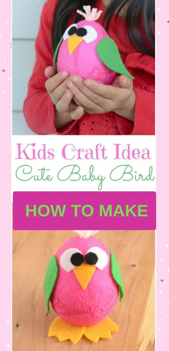 Kids Craft Idea: Cute Baby Bird