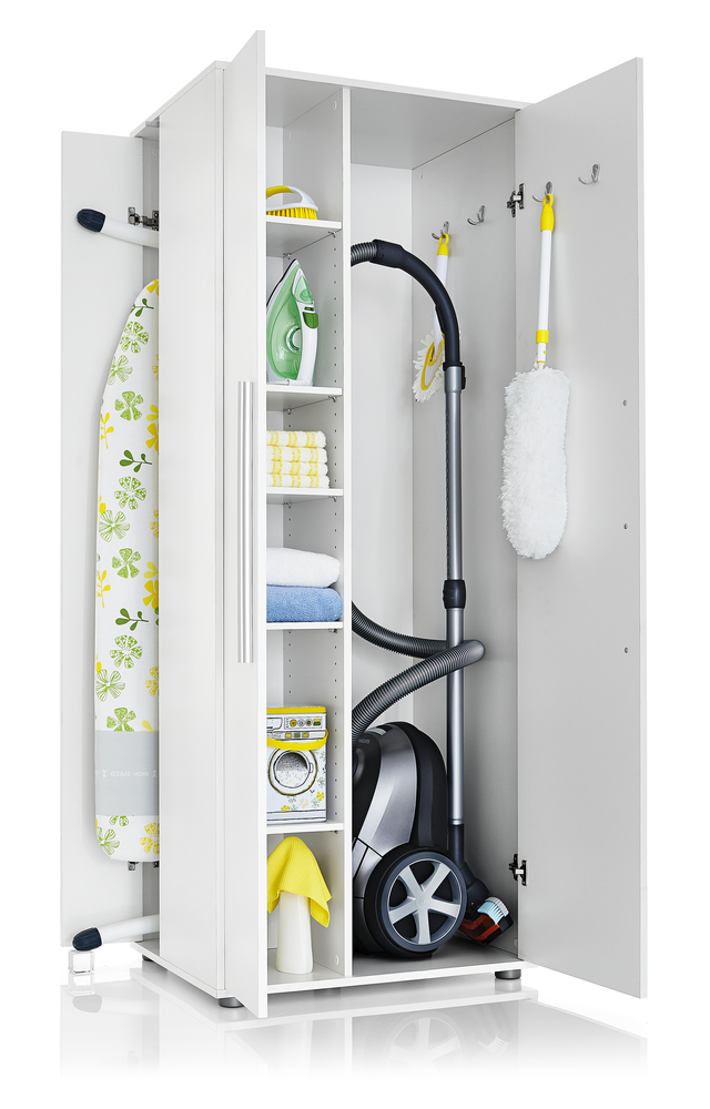 Cabinet For Vacuum Cleaner And Ironing Table