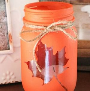 Mason Jar Fall Luminary