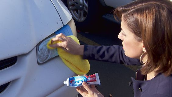 1. Clean your headlights using toothpaste
