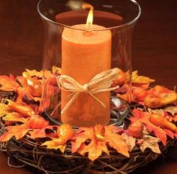Fall Candle Wreath