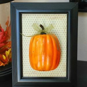 Framed Plastic Pumpkin