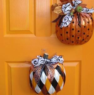 Pumpkin Door Decor