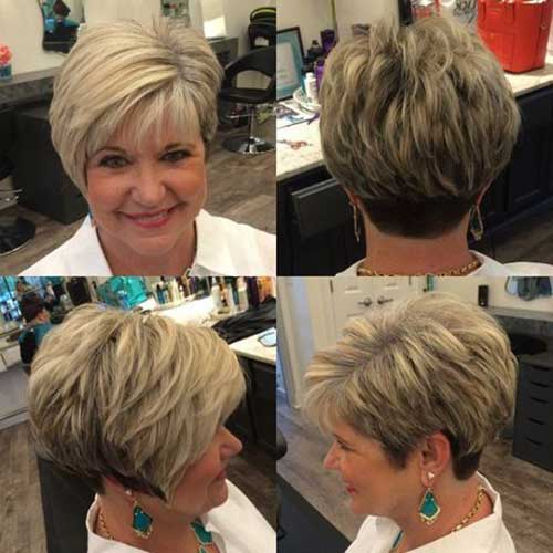 Asymmetrical layered haircut
