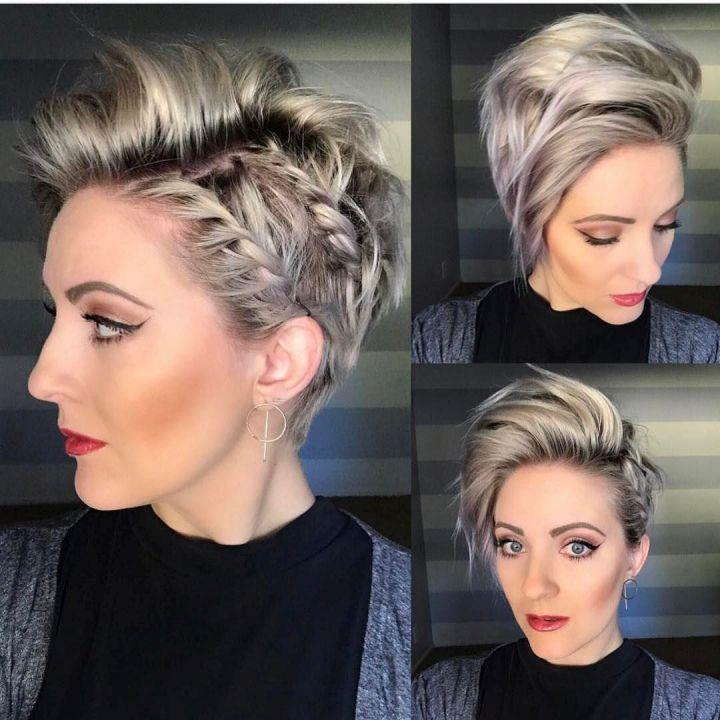 Short hairstyle made with German weave
