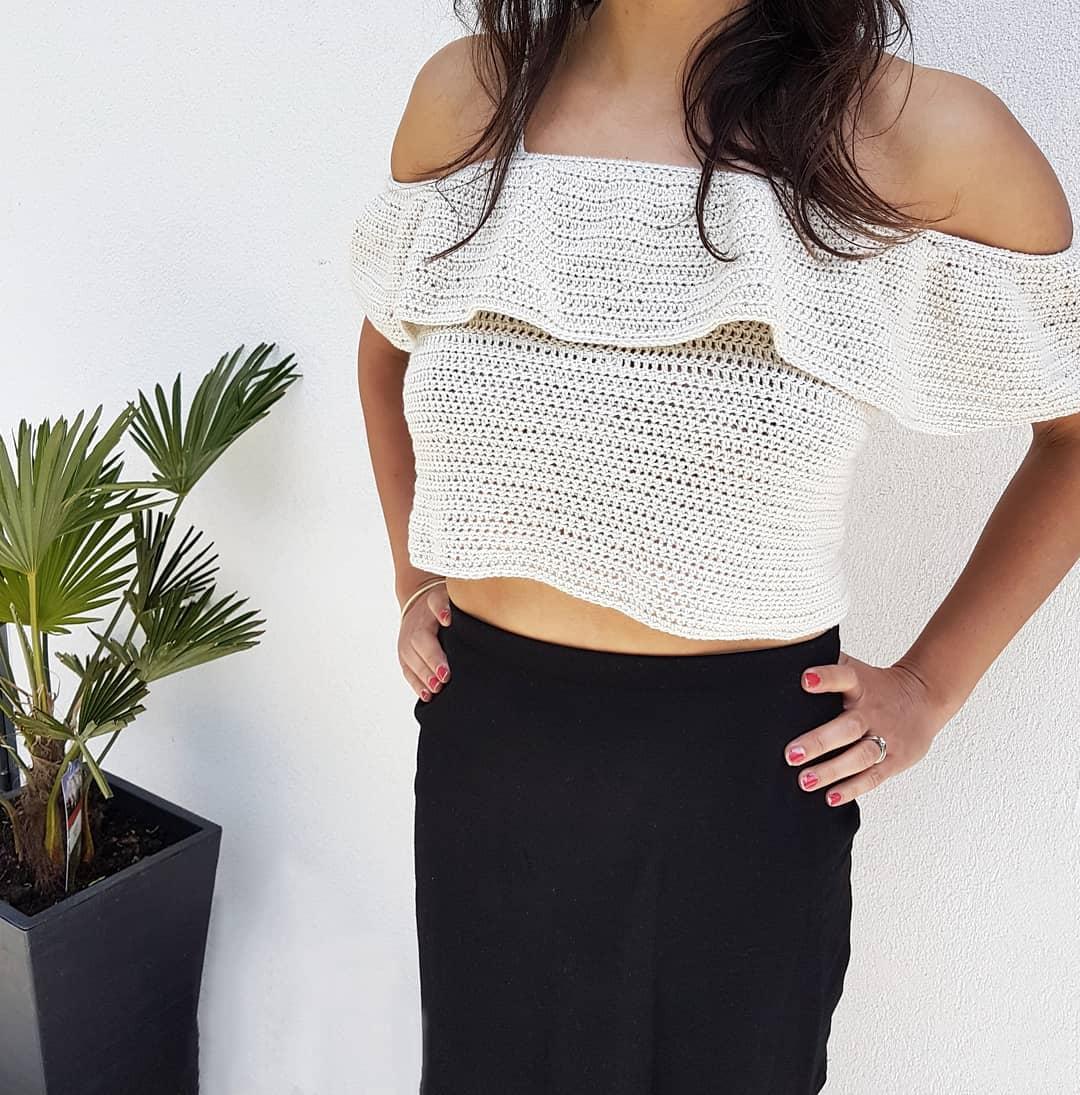 My Neighbour Being Roped Into Modelling Crochetsummertop - Crochet Summer Top