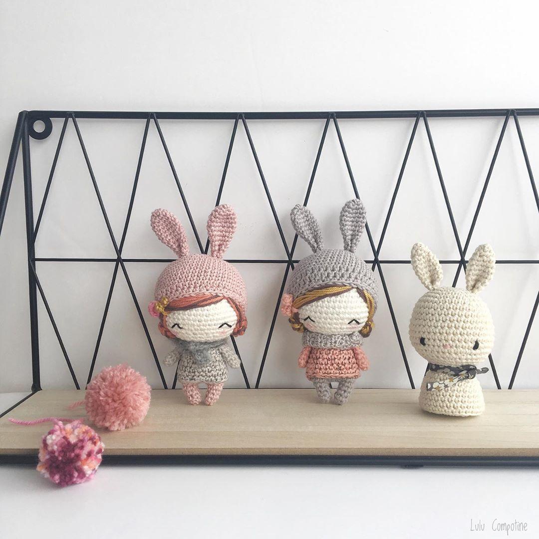 Amigurumi crochet lapin longues oreilles,salopette pantalon et ... | 1080x1080