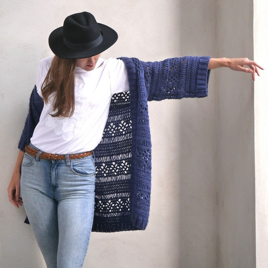 Sundays Are For Peace And Quiet, But I W Lindaskuja - Crochet Cardigan