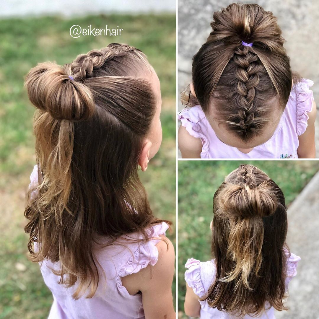 Pancaked Dutch Braid On Top Combined Wit Girlmom - Hairstyles For Girls