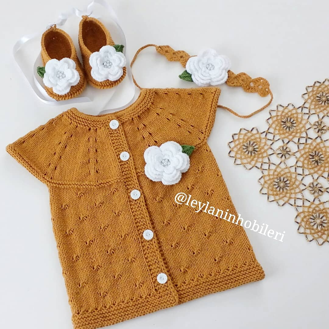 🍁💫 Gündüz Unuttum, Yine Unutmadan Payl Bebekyeleği - Knit Cardigan