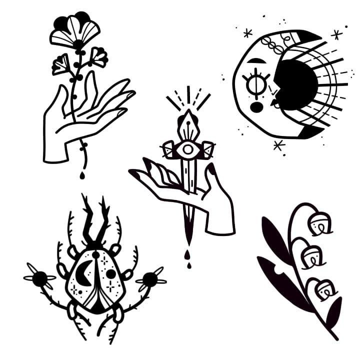 🍁 Planche De Flashs De L'automne 🍁 Ch - Tattoos