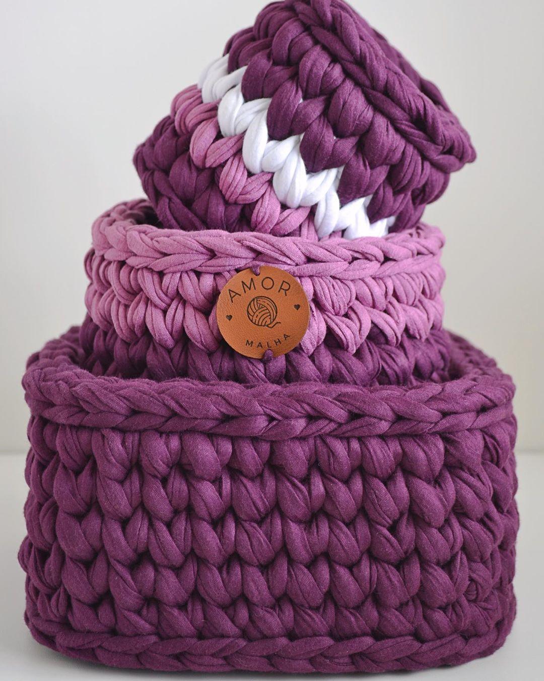 💜 Trio De Organizadores Disponível! 🏷R Crochet - Crochet