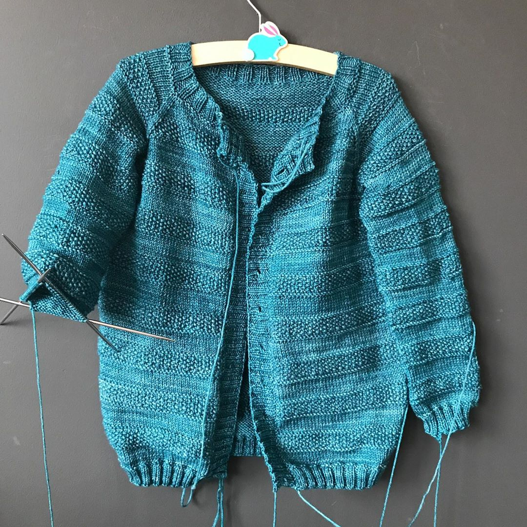 Almost There! Once This Is Done I Think Veggiepatchcardigan - Baby Knitting