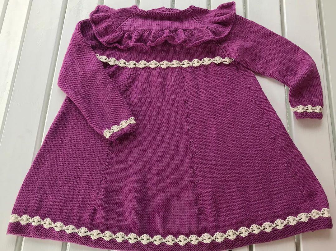 Magnoliakjole 💕 Kjolen Er Strikka I Str Knittingaddict - Knit Dress