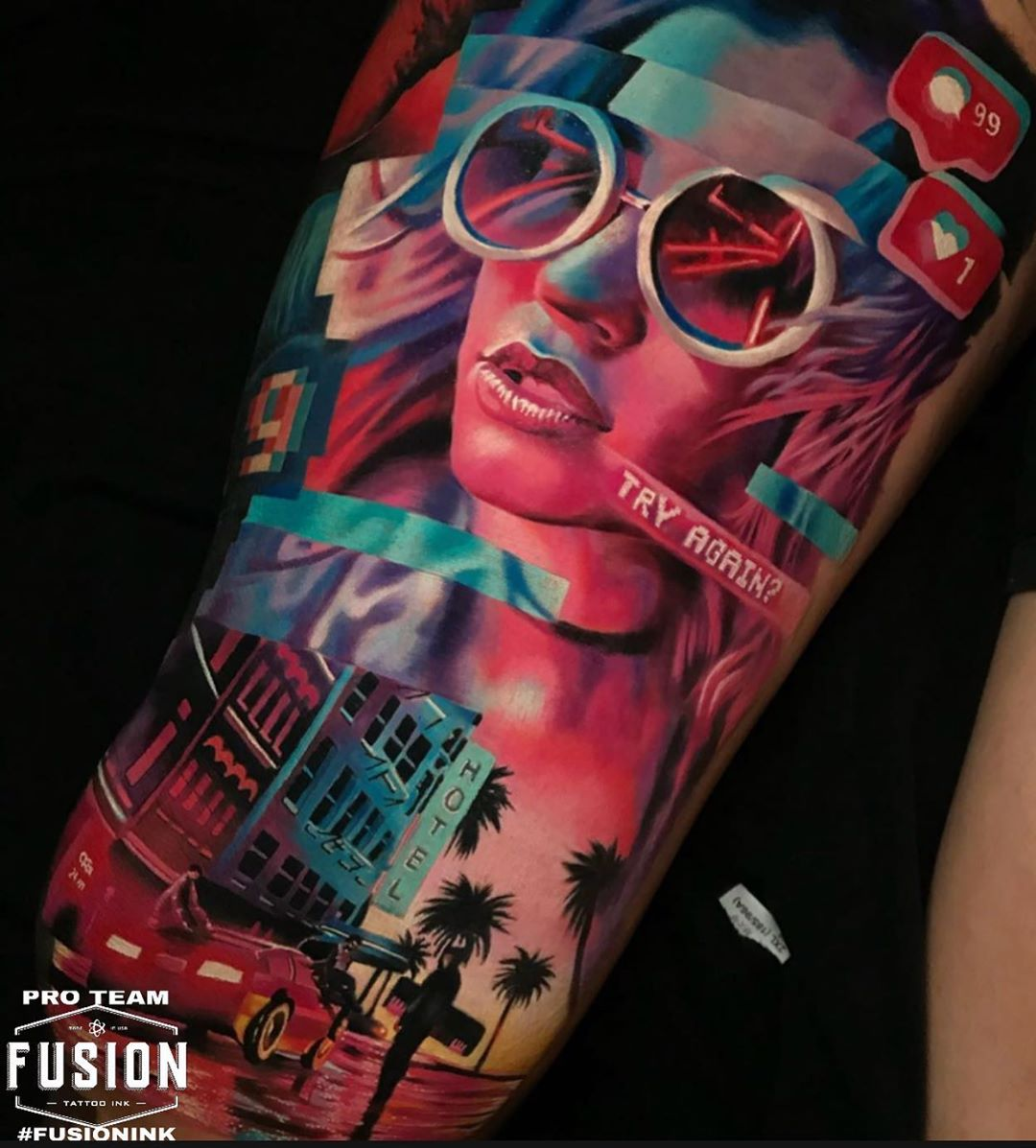 Incredible Work By Pro Team Artist Omom Fusionfamily - Tattoos