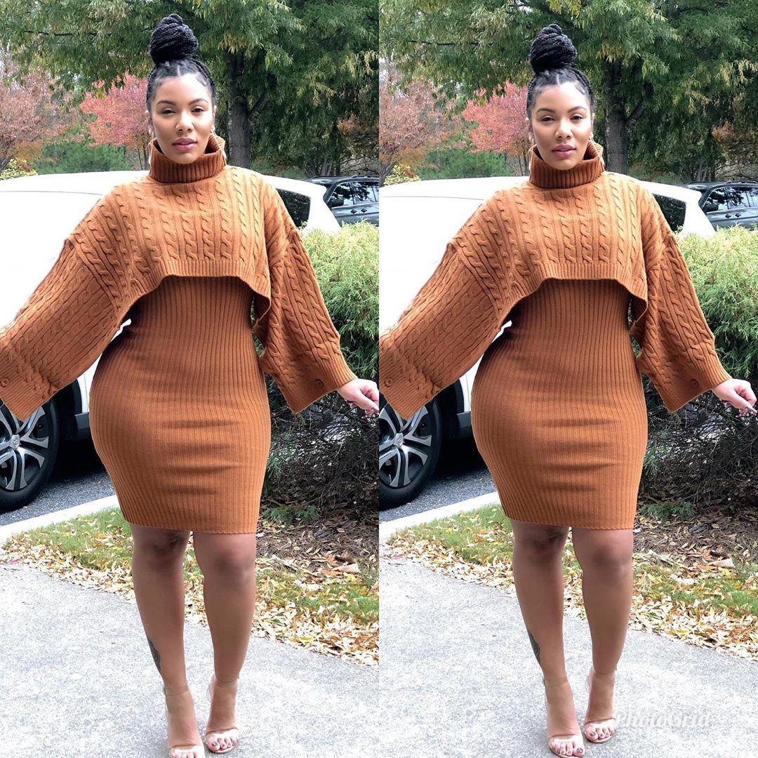 Restocked Drop Top Sweater Dress Shop Li Ribbedknitdress - Knit Dress