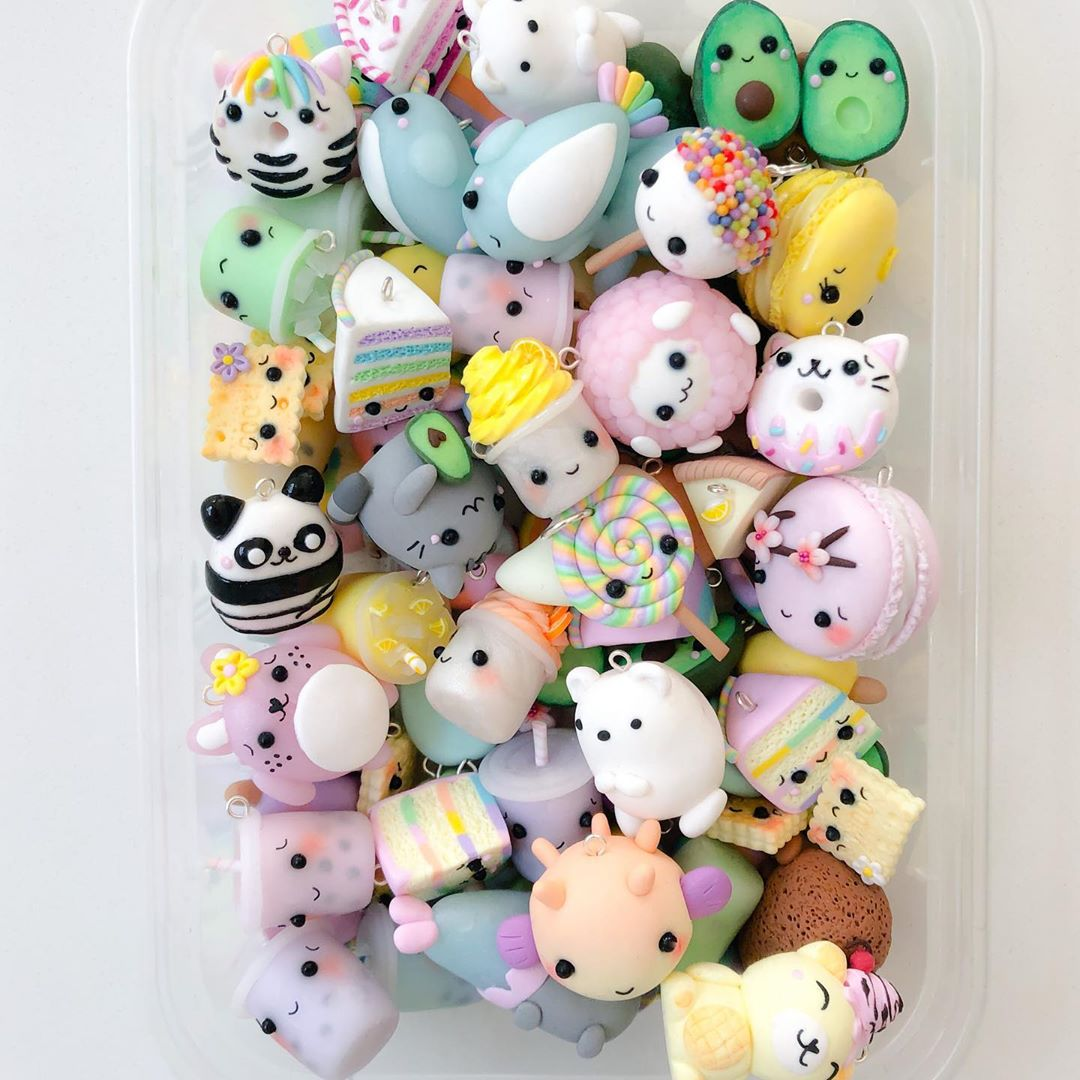 Charm Box Of The Day! 🌈💕 . . . . . . . Claycharms - Diy Crafts