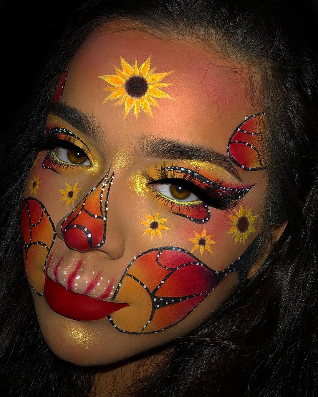Butterfly Sunflower Skeleton 🌻 ———————— Lancomegiftedme - Make Up