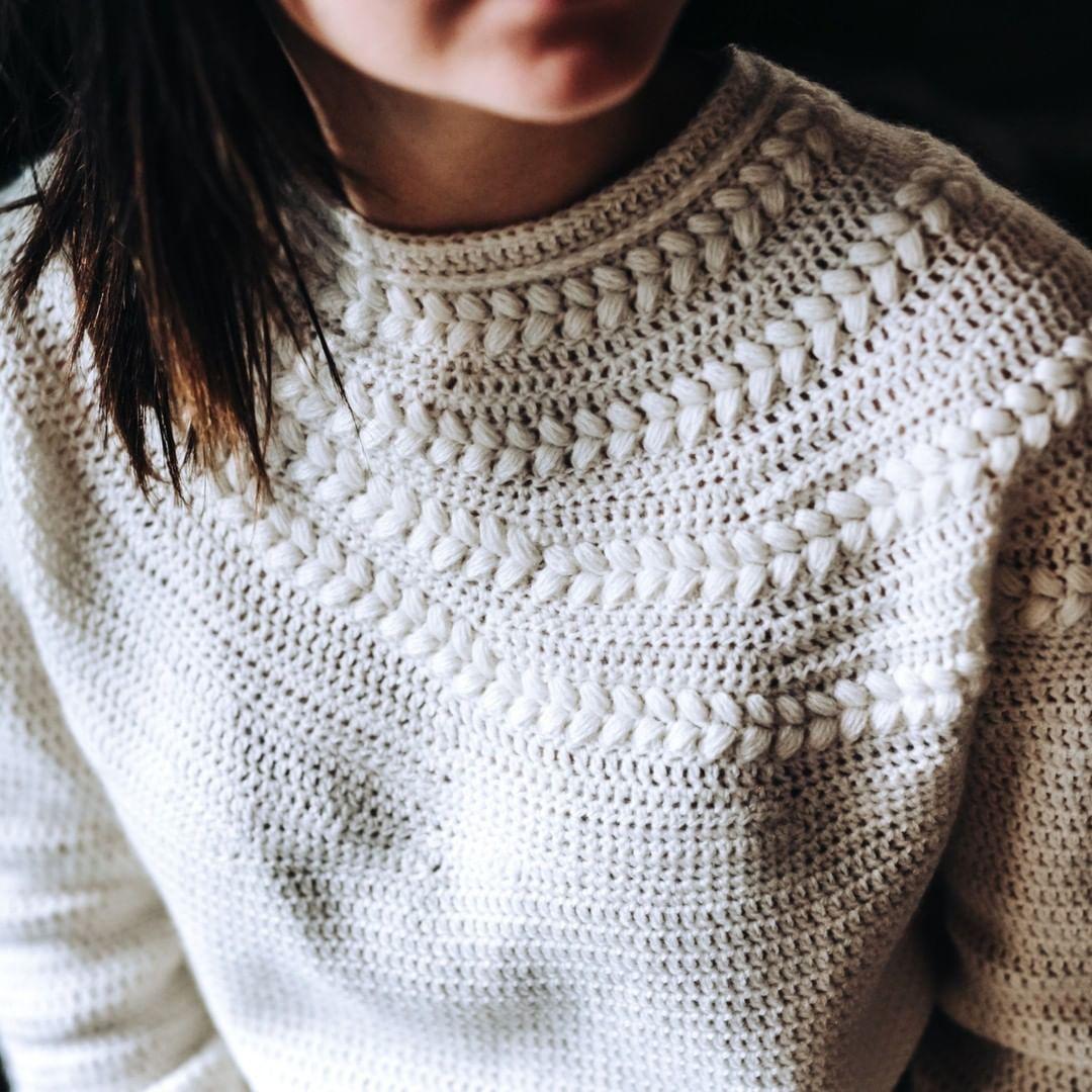 Close Fitting Neck, Unbelievable Drape A Lindaskuja - Crochet