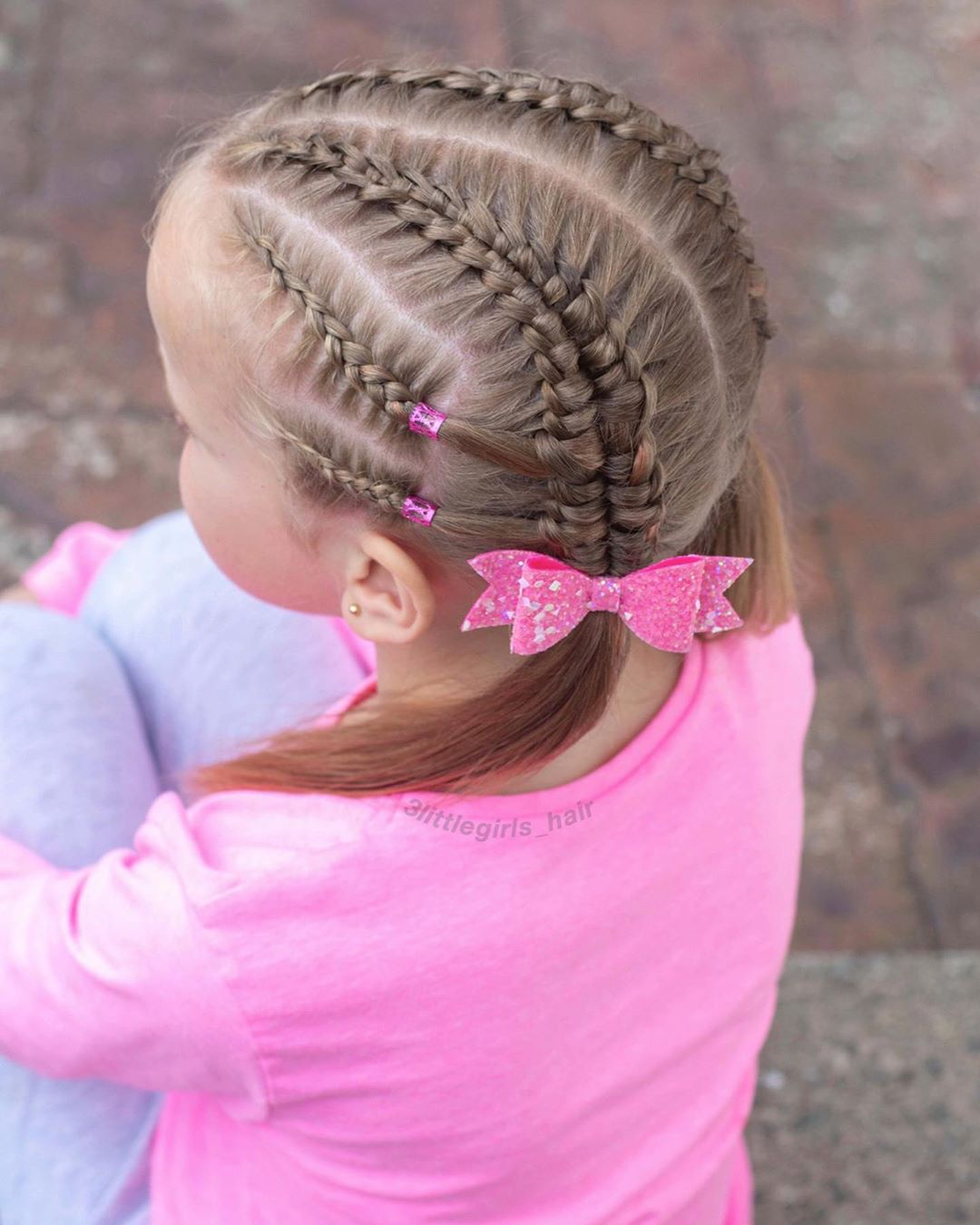 Suspendedinfinitybraid Pigtails For Sum Toddlerhairstyles - Hairstyles For Girls