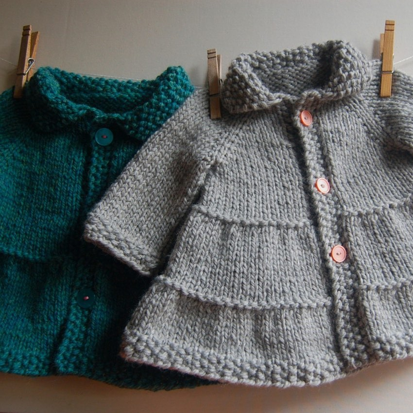10 Years Ago Today I Published My First Tieredbabycoat - Baby Knitting