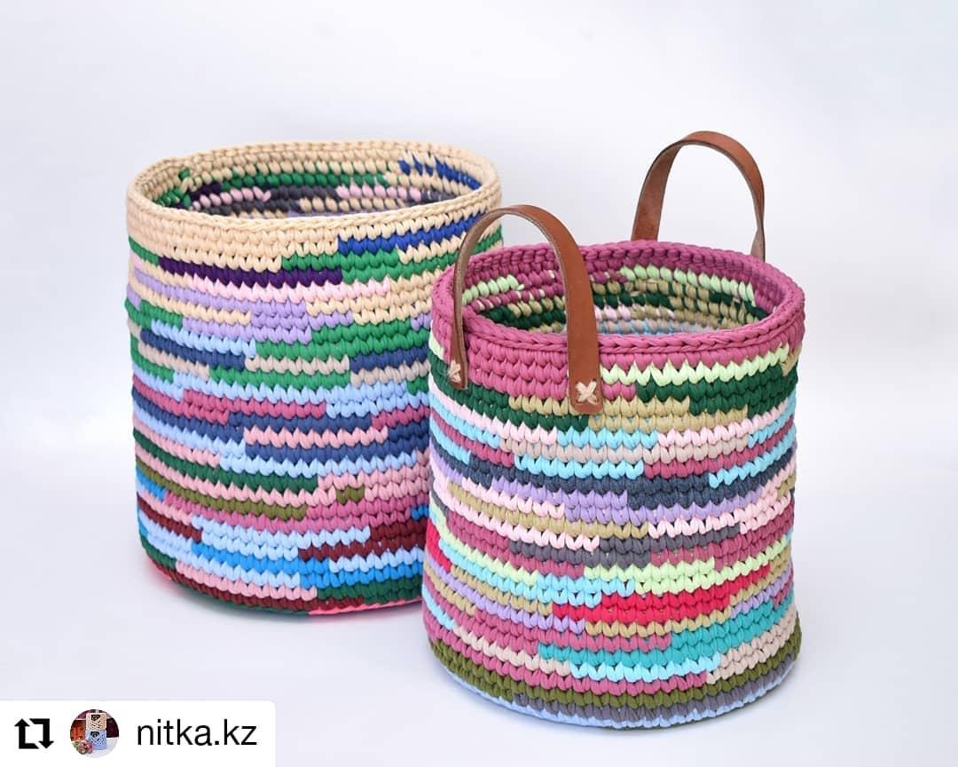 Repost 👉👉Nitka.Kz💕💕👈👈 • • • • • Handmadebasket - Crochet Bag
