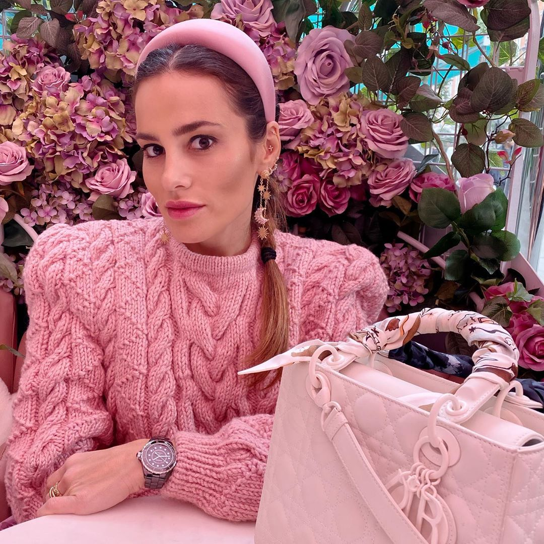 Another Day, Another Ladydior 🌸 Pink Pinkisthenewblack - Chunky Knit