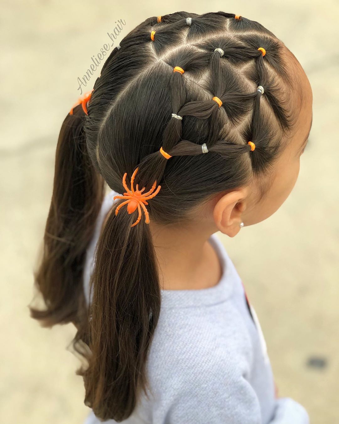 🕸🕷🧡🕸🕷🧡 Spider Web Elastic Style In Hairoftheday - Hairstyles For Girls