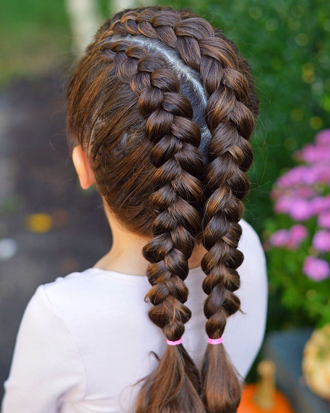 Dutch Braids With Curved Part Line. Have Braidstyles - Hair Ideas