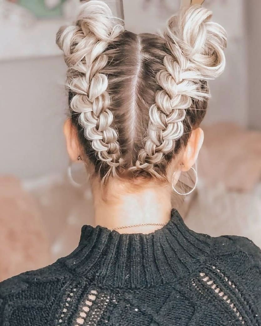 1,2,3 Or 4??? ✨✨✨ Follow Us Tutorialhai Spacebuns - Hairstyles For Girls