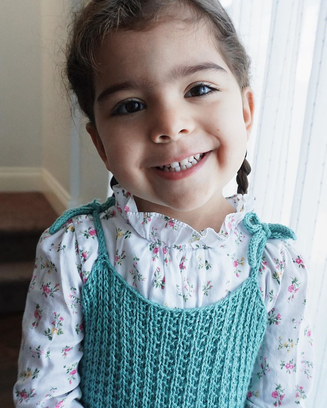 Made A New Dress For Mel To Wear To Chur Babyknits - Knit Dress
