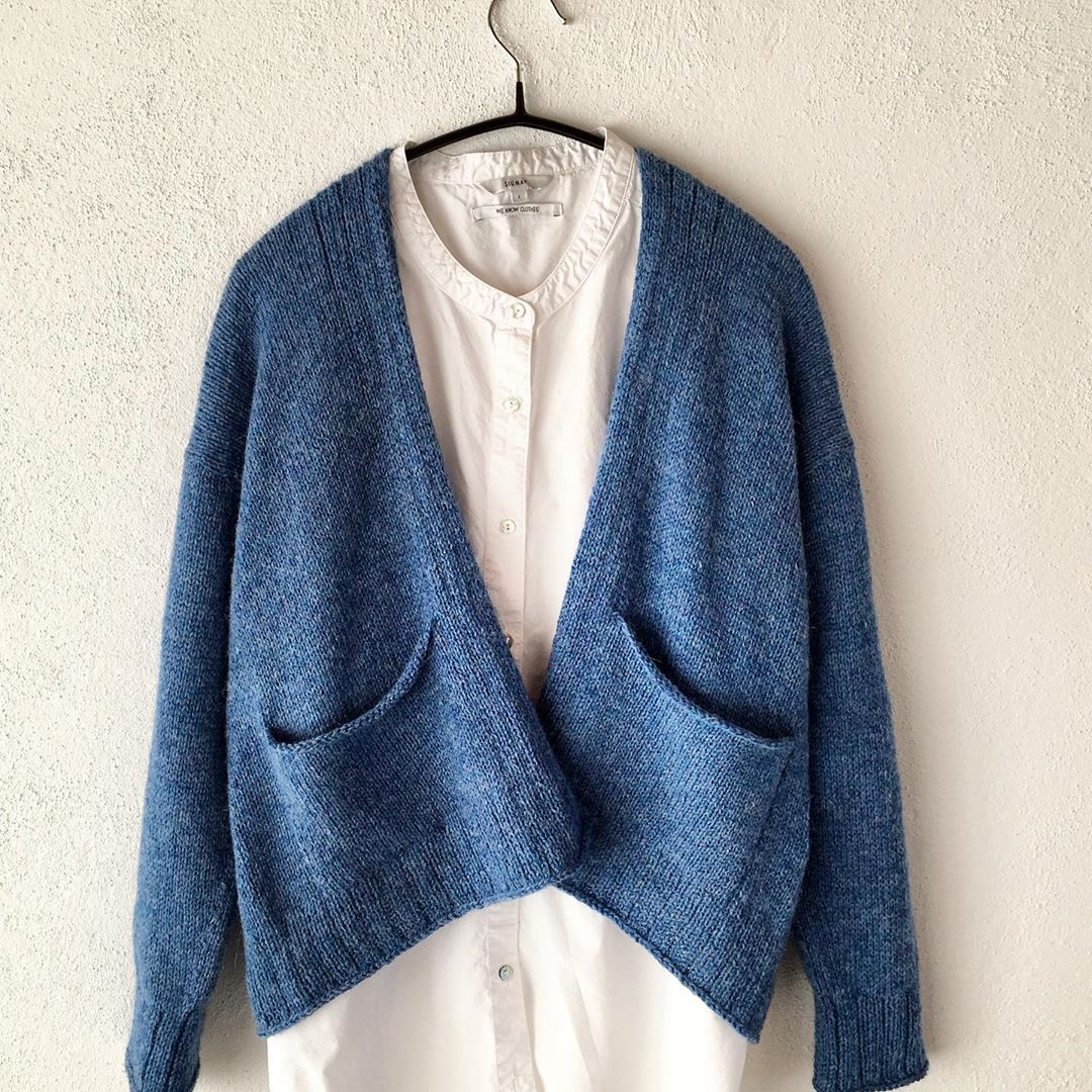Ready For Spring In A Blue Growing Cardi Lonekjeldsendesign - Knit Cardigan