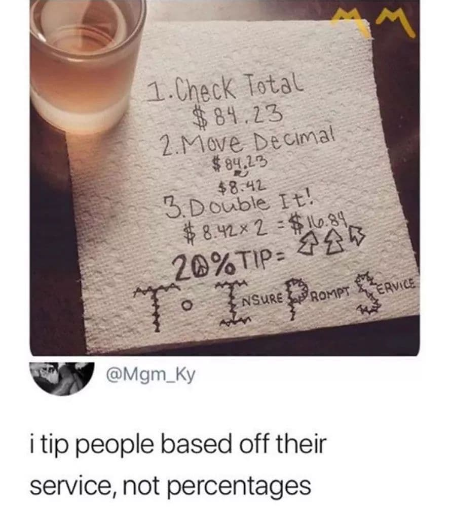 How Do Tip Someone At A Restaurant/Cafe Transitioninghair - Tips And Tricks