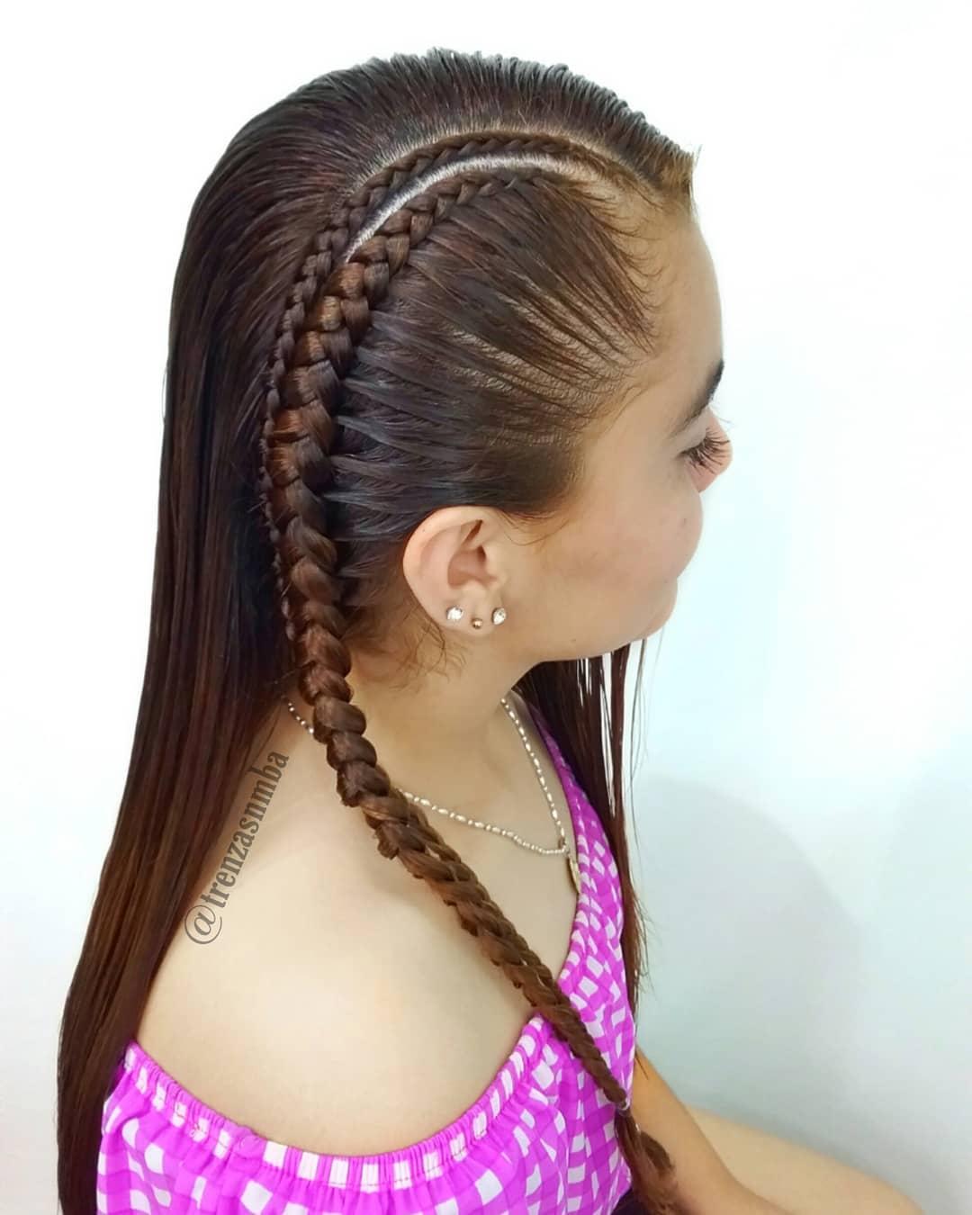 Hola🤗. Les Comparto Esta Sencilla Trenz Haircut - Hairstyles For Girls