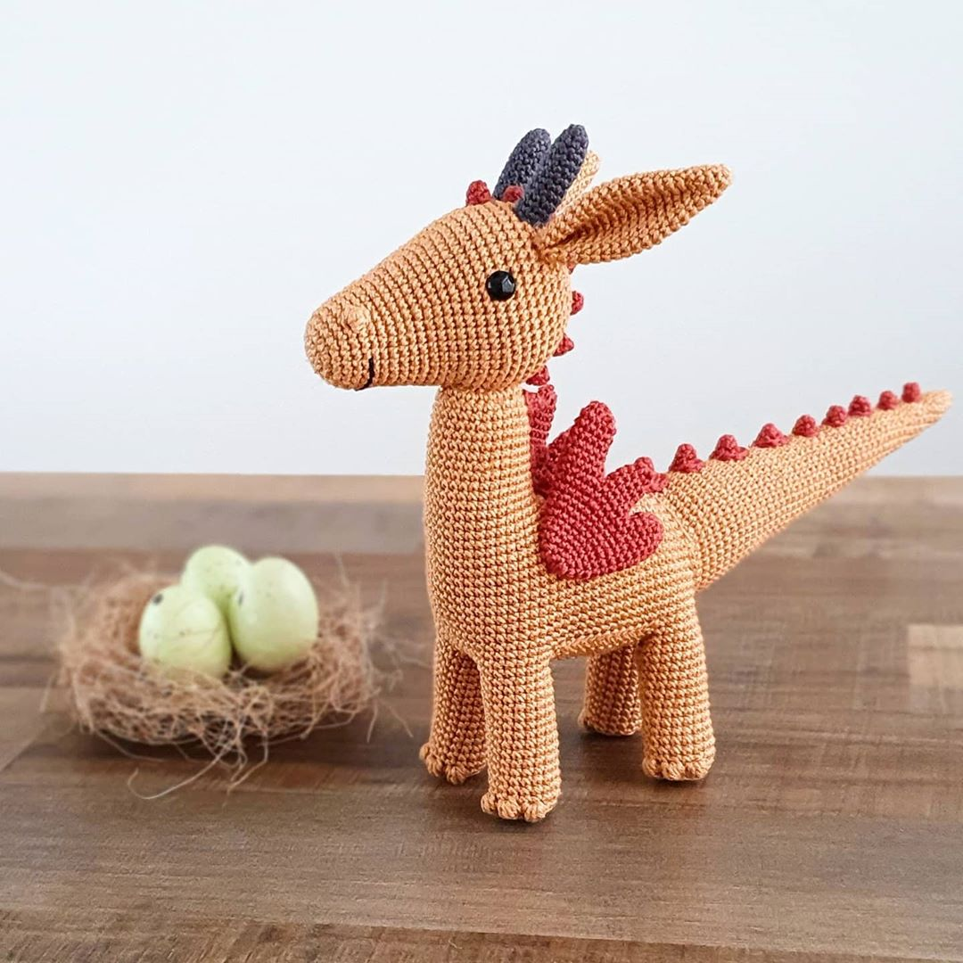 Gertrude Dragon! 🐲 Animalfriendsofpic Picapau - Baby Crochet