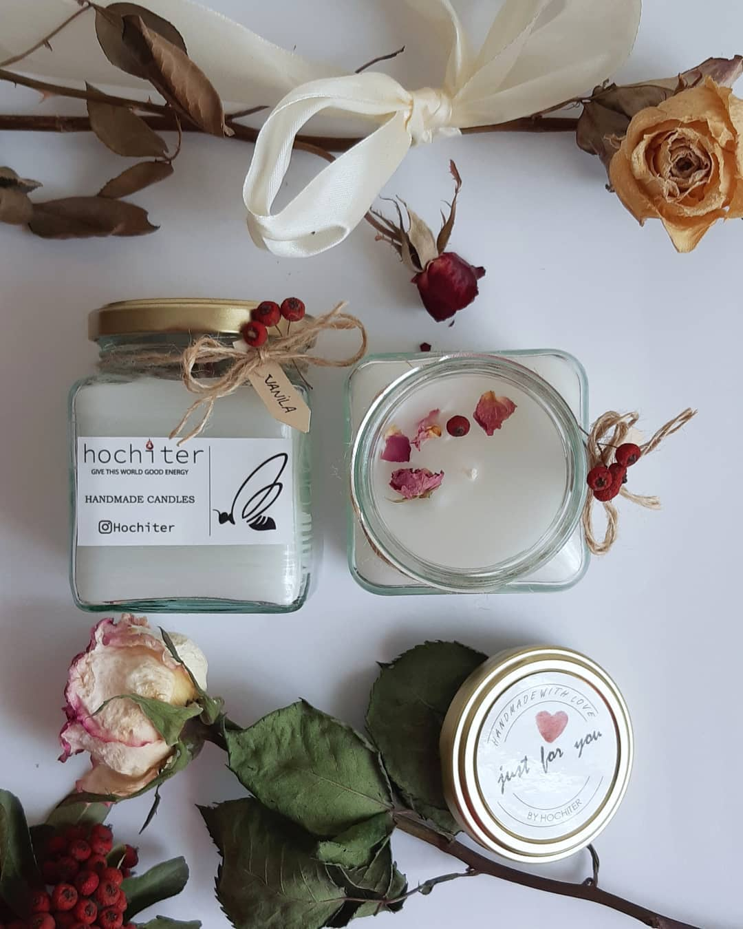 ☆H O C H I T E R☆ . شمع مدرن شیشه ای 🕯 Candleart - Home Accessories