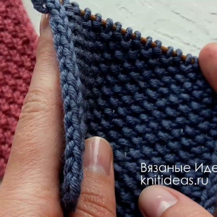 Красивая Кромка Из 2 Петель! Кромка Буд Идеивязания - Knitting Tutorial