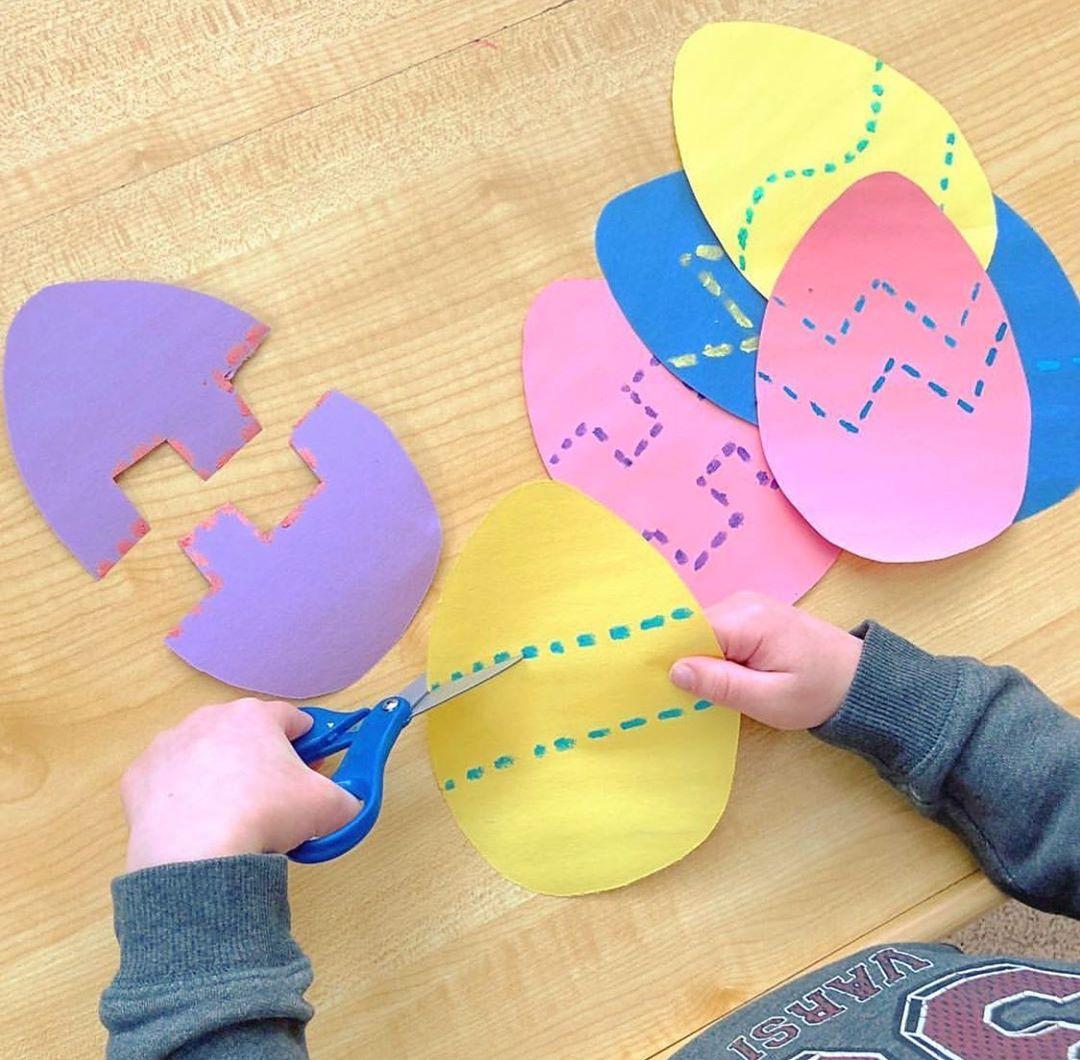 Easter Egg Scissor Skills 🐣 ✂️Grab A St Preschool - Kids Crafts