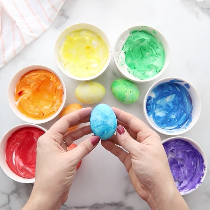 Cool Whip Easter Eggs ❤️🧡💛💚💙💜 This Learningthroughplay - Kids Crafts