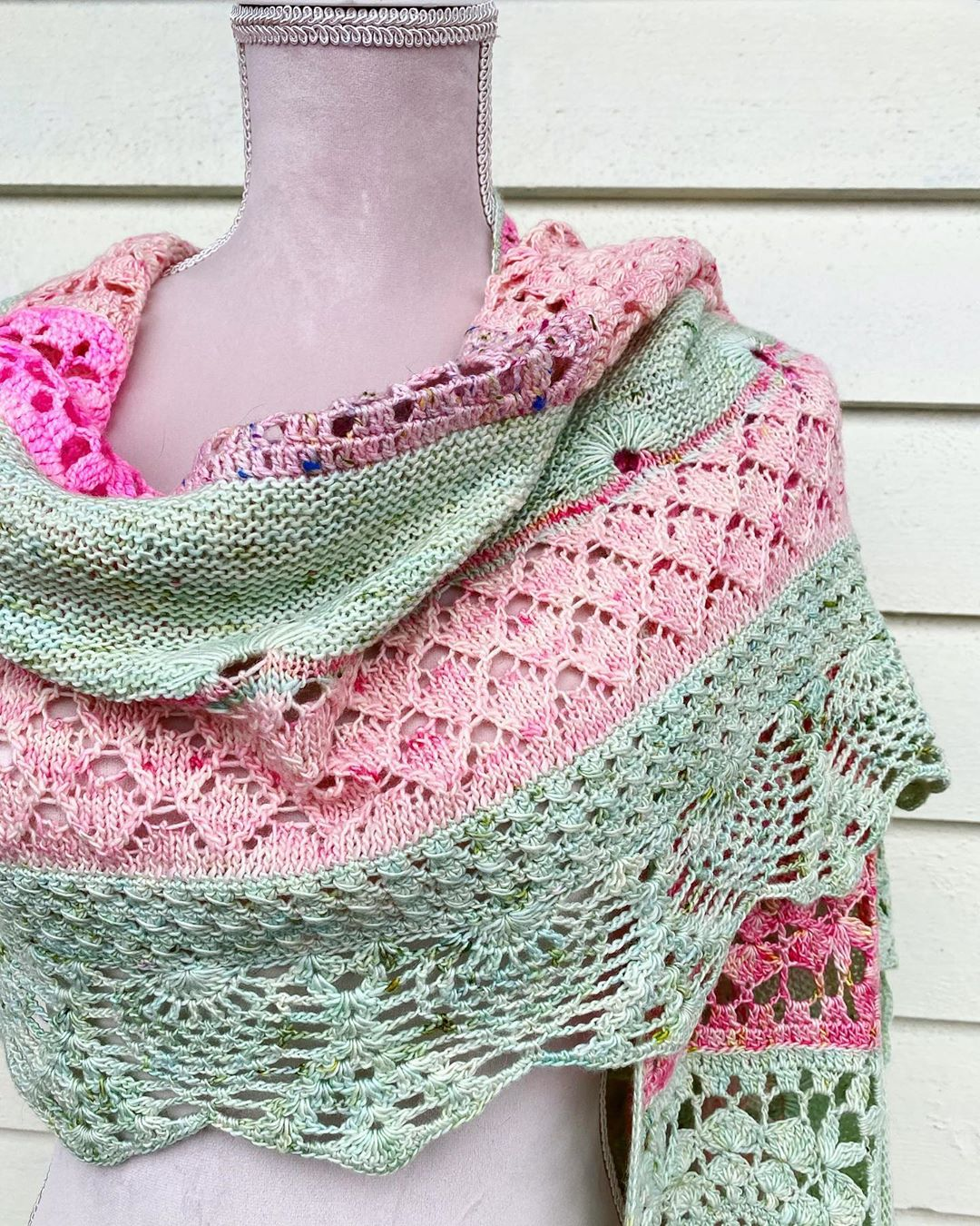It'S Raining Heavily Today, But I Just H Cherrybloomwrap - Shawl Knitting