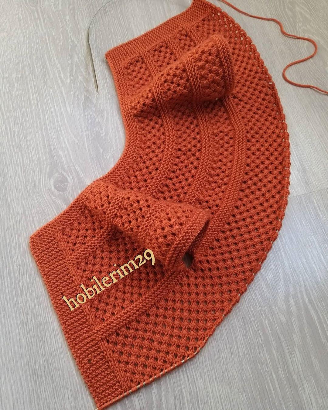 Selamünaleyküm 🙋♀️🧡 Yelegim Bu Şekil Çitlenbik - Baby Crochet