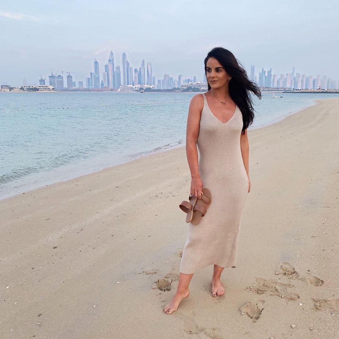 Ocean Air, Salty Hair 🌊 . . Knit Dress Dubaiskyline - Knit Dress