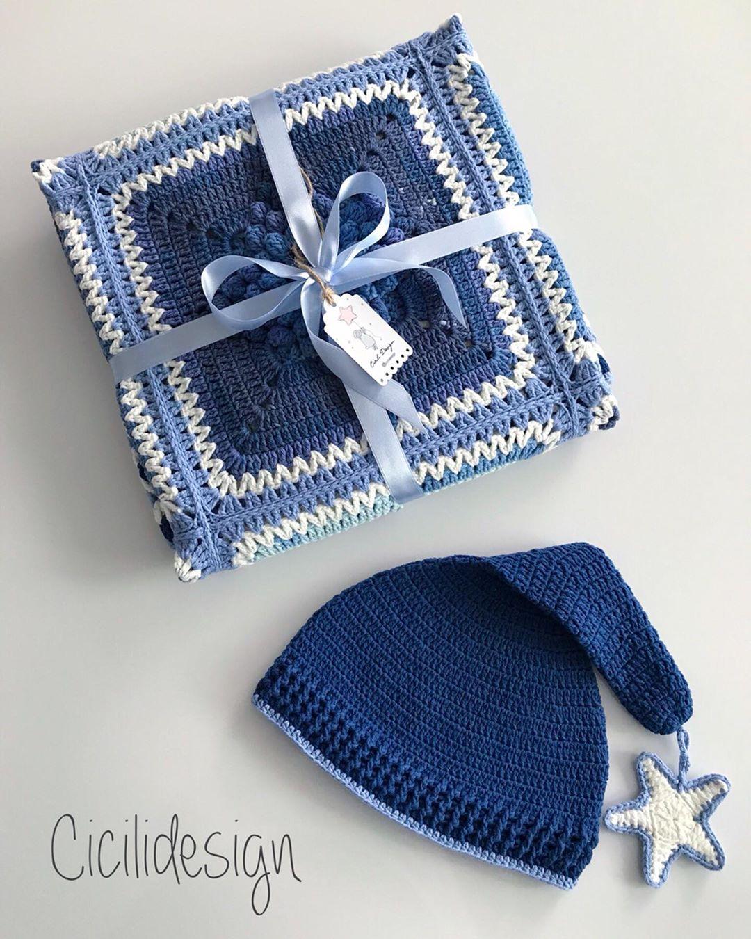 Mavinin Huzuru Evlerinize Dolsun.... . . Popcornyıldızlıbattaniye - Baby Crochet