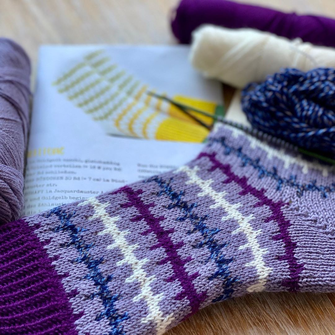 Noch Ein Projekt Für Den Soxxkal2020 Vo Soxxno6 - Knitting Socks