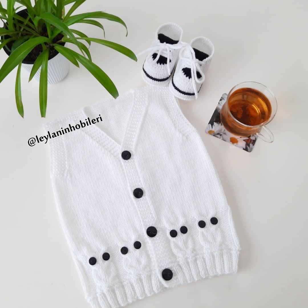 🌿 🍃Günaydın, Mutlu Haftalar 🍃🌿 . Sev Bebekyeleği - Knit Cardigan